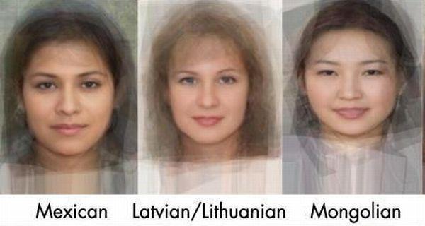 Среднестатистическое женское лицо в разных странах (14 фото)