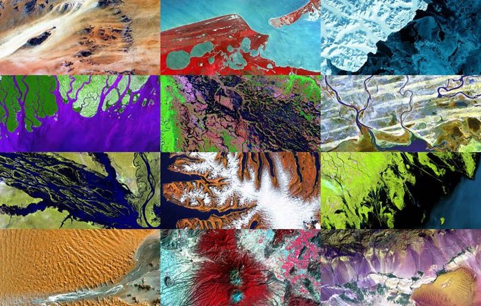 Снимки со спутника – шедевры искусства  (22 фото + текст)