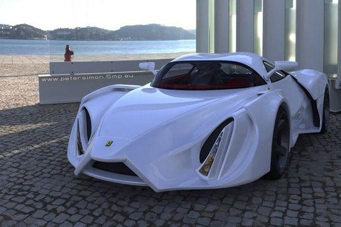 Ferrari Enzo в зарисовках Питера Симона (17 фото)