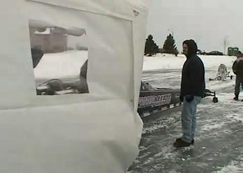 Дрегстер с 2000 л/с на льду