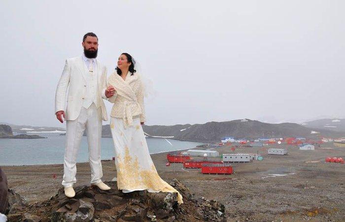 Венчание полярника (12 фото)