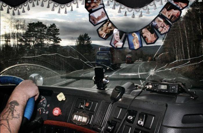 Жизнь дальнобойщика (14 фото)