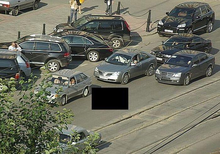Не только дороги-проблема пробок, но и дураки (3 фото)