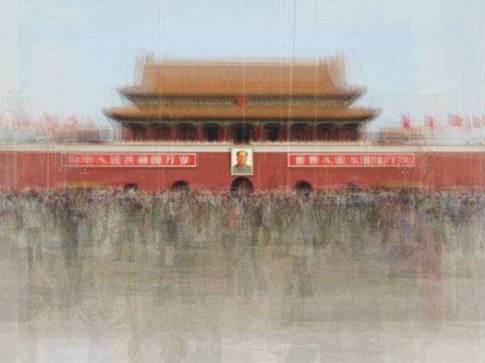 Площадь Тяньаньмэнь в Пекине, Китай