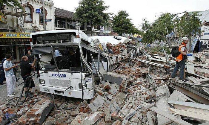 Землетрясение в Новой Зеландии (13 фото + видео)