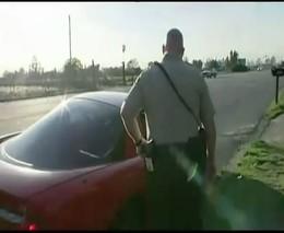 Авария во время задержания