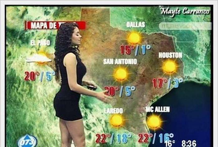 Ведущие прогноза погоды в Южной Америке и на Ближнем Востоке (9 фото)