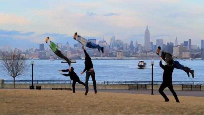 Летающие люди Нью-Йорка (видео)