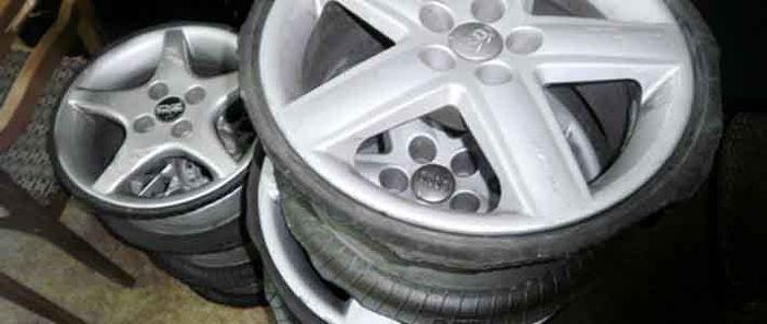 Минский бомж украл колеса и сдал диски на металлолом (2 фото)