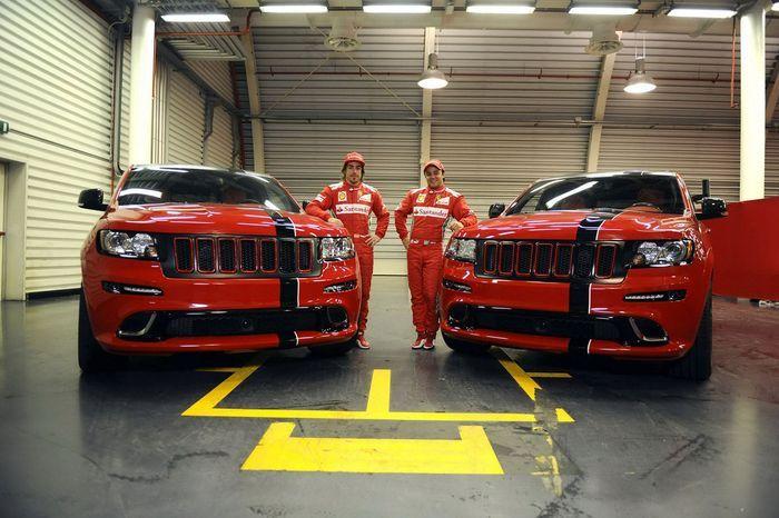 Jeep Grand Cherokee SRT8 для Фернандо Алонсо и Фелипе Масса (11 фото)