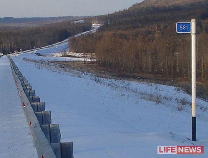 Автодор потерял 9км трассы, по которой ехал Путин (видео)
