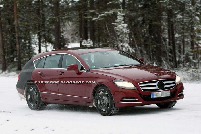 Mercedes-Benz CLS Shooting Break засветился на испытаниях (7 фото)