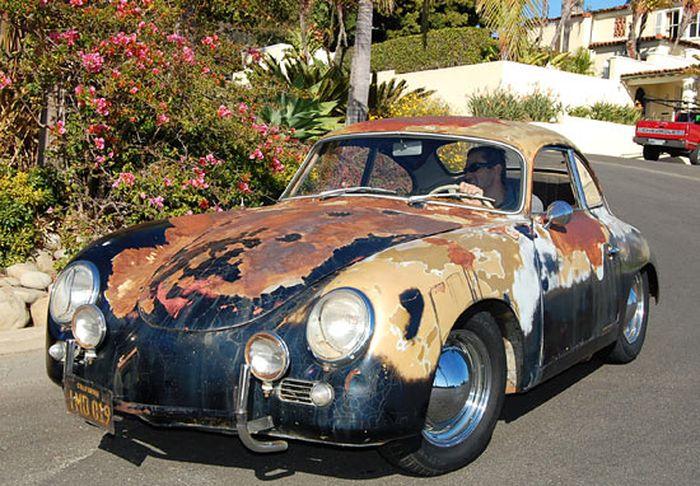 Найденный Porsche 356A coupe продают на аукционе (28 фото)