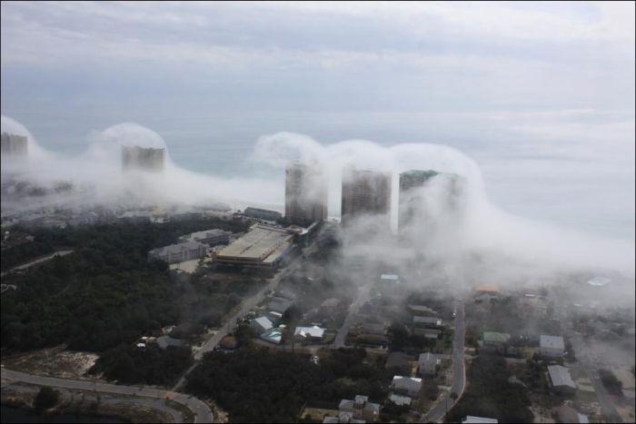 Сильный ветер на побережье Флориды (5 фото)
