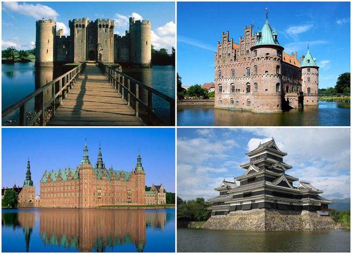 Замки на воде или 20 самых красивых замковых рвов в мире (20 фото)