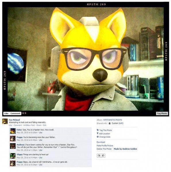 Персонажи видеоигр в фейсбуке (9 фото)