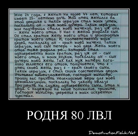 РОДНЯ 80 лвл