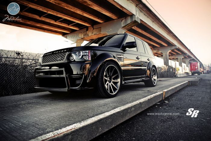 Range Rover Sport в шикарном обвесе  и с дисками от Modulare Wheels (4 фото+видео)