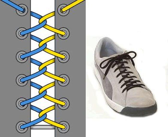 Завязывай шнурки правильно (24 фото)