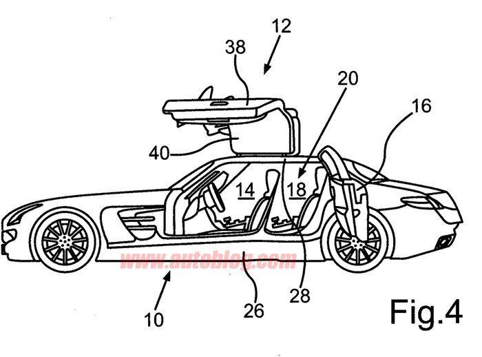 Mercedes-Benz запатентовал четырехдверный SLS AMG (9 фото)