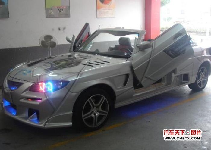 Китайский тюнинг  - Mazda 3 Cabrio (7 фото)