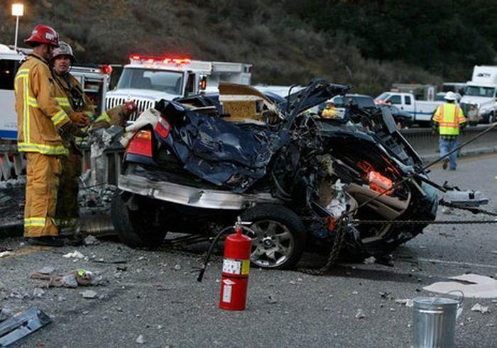 Страшная авария на шоссе 101 в Калифорнии (8 фото+видео)