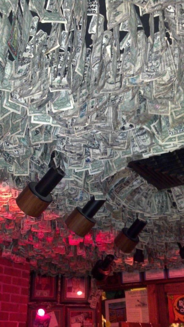 Зачетное фото деньги, доллары, интерьер, купюры, ночной клуб, оформление, потолок