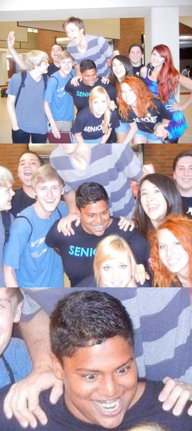 Красивые фото выражение лица, групповое фото, девушки, парень, темнокожий