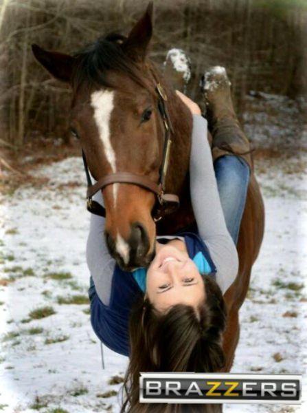 Фотка браззерс, девушка с лошадью, лошадь