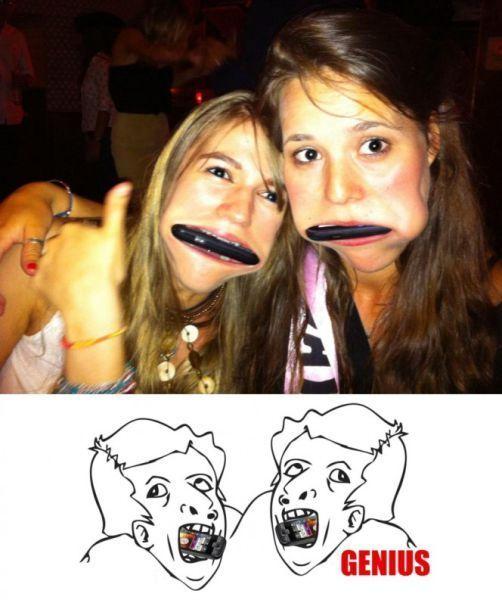 Фотоприкол онлайн девушки, идиотизм, прикольная фотографи