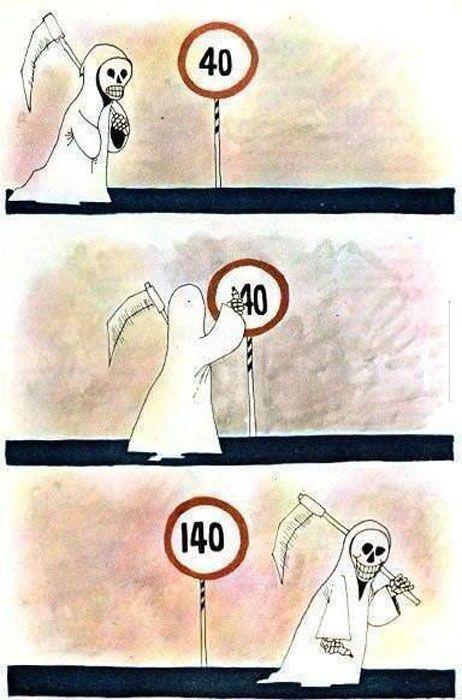 Фотоприкол фото дорожный знак, смерть, смешная картинка
