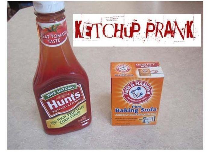 кетчуп, прикол, розыгрыш, сода