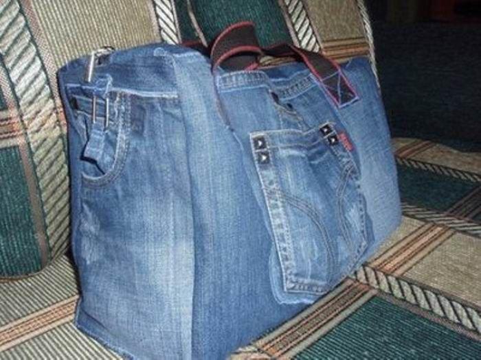 Новое из старых джинс своими руками фото