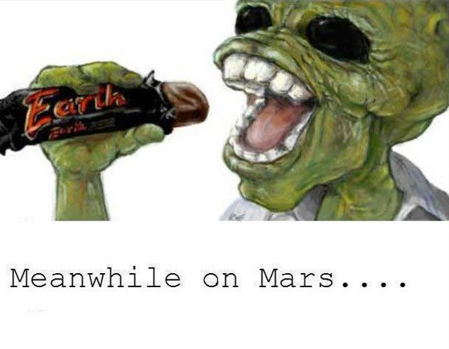 Пикантный фотоприкол батончик, инопланетянин, марс, прикол, шоколадка