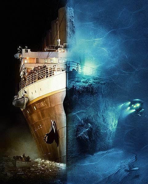 Юмор прикол крутая картинка, под водой, титаник, фотография