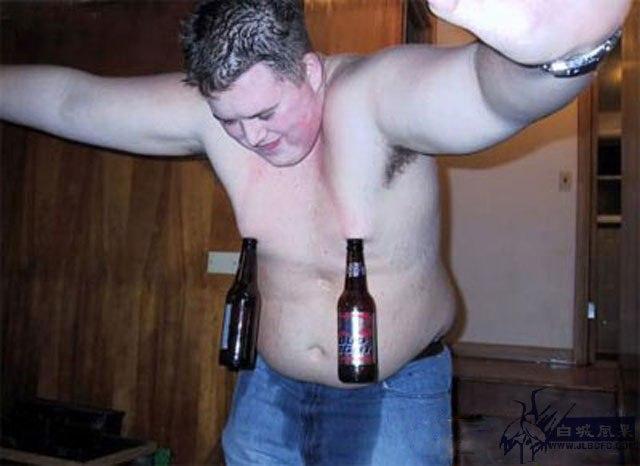 Фотография бутылки, пиво, прикол, пьяный, толстый