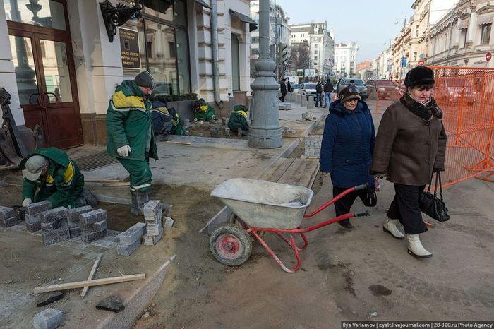 москва, пешеход, тротуар