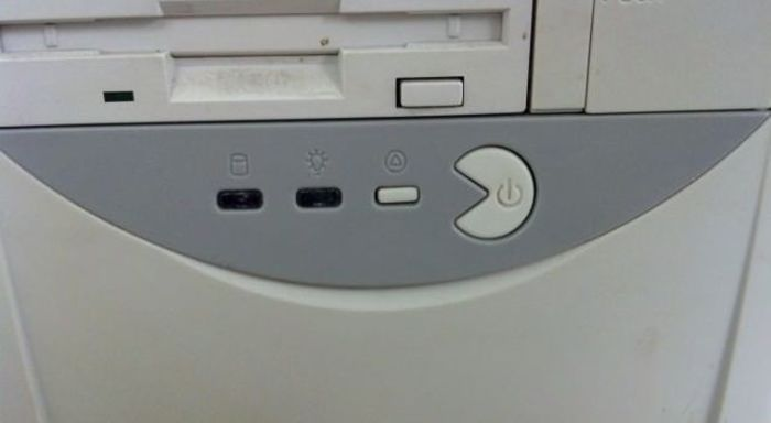 Прикол картинка кнопки, компьютер, корпус, пакман