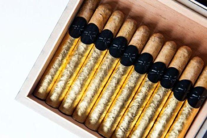 сигара, золото, курить