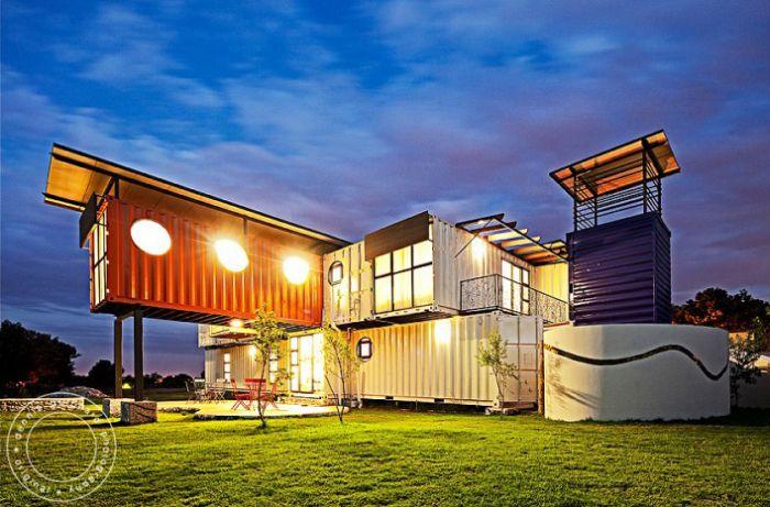 дом, контейнеры, детский дом
