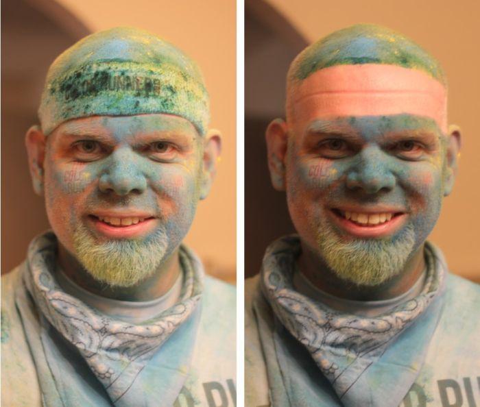 Новые фото бородатый, макияж, парень, разрисовали