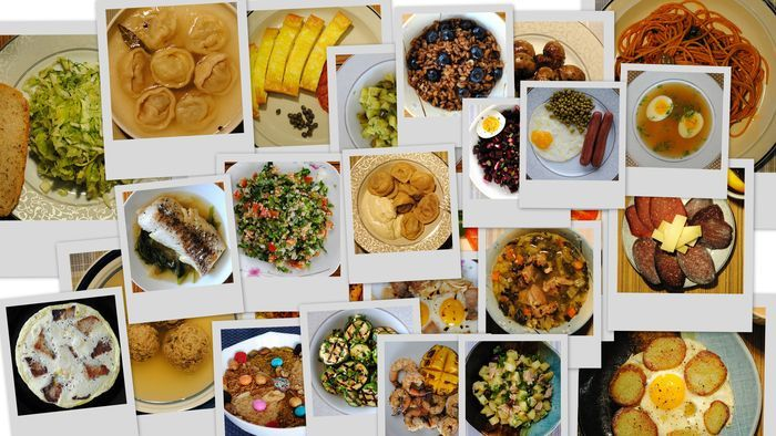 завтрак, еда, пища, яйцо, сосиска, пельмени, бульон