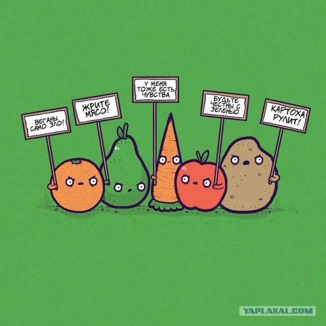 Прекрасные фото веганы, картинка, овощи, прикол, юмор