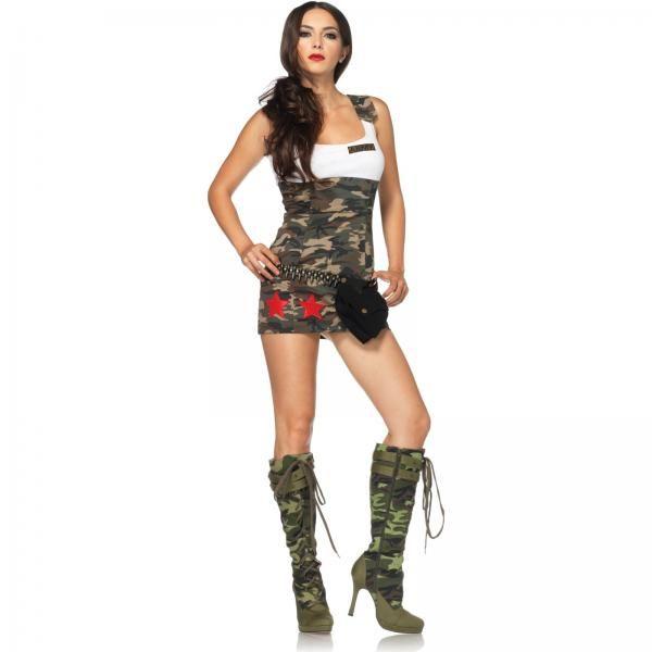 Сексуальная девушка в военной форме фото 445-735
