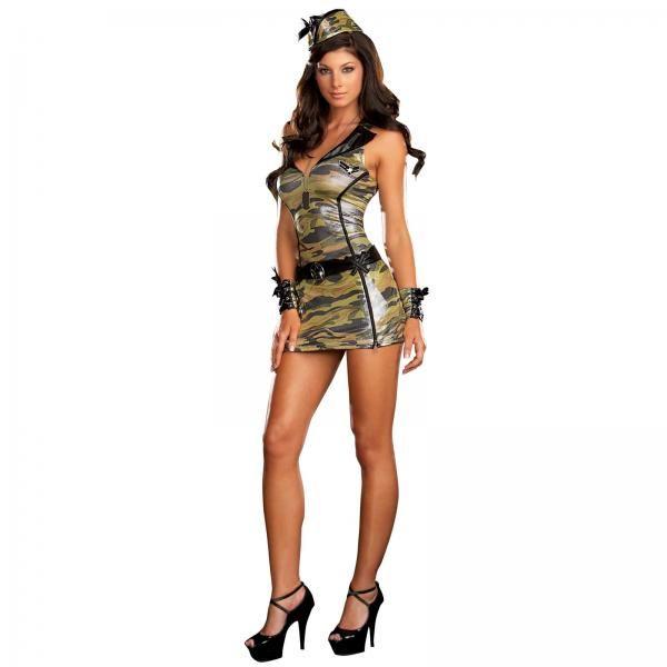 Сексуальная девушка в военной форме фото 445-831