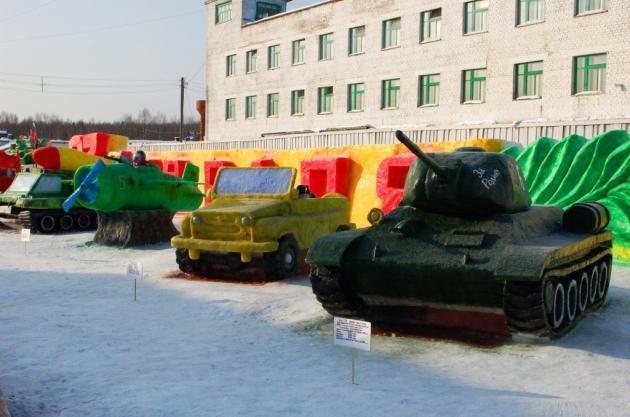 конкурс,скульптура, танк, зона