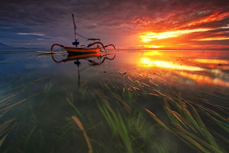 Юмор закат, красота природы, море, тропики
