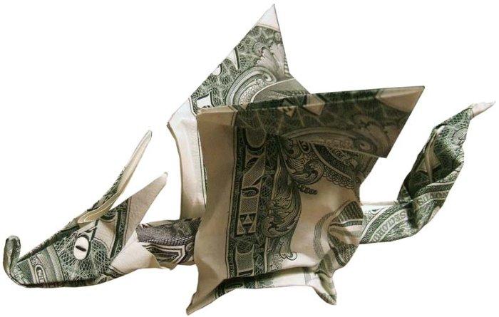 Оригами из долларовой купюры (113 фото)