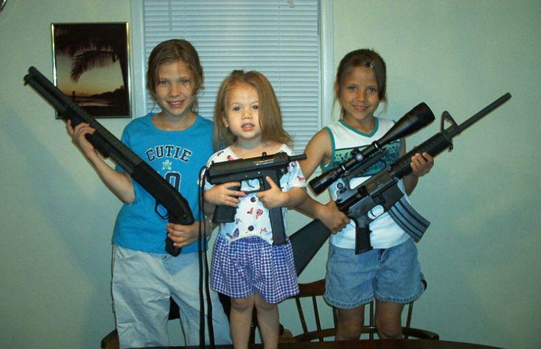 фото оружием с скачать ребёнка