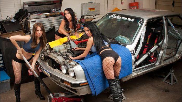 Сексуальные девушки с машинами фото 128-305